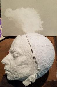 self-portrait paper sculpture